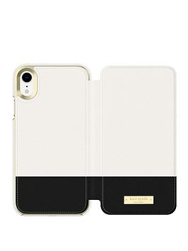 kate-spade-new-york-new-york-folio-case-for-iphone-xr-color-block-cementblackgold-logo-plate
