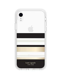 kate-spade-new-york-new-york-defensive-hardshell-case-for-iphone-xr-park-stripe-gold-foilblackcreamcream-bumperclear