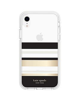 kate-spade-new-york-new-york-defensive-hardshell-case-for-iphone-xr-park-stripe-gold-foilblackcreamcream-bumperclear
