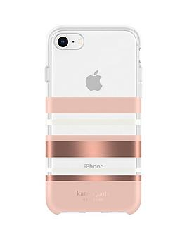 kate-spade-new-york-new-york-protective-hardshell-case-for-iphone-se-2020-iphone-8-7-66s-park-stripe-rose-gold-foilblushcreamclear