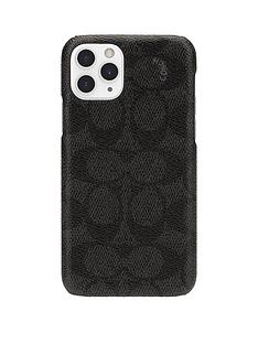 coach-coach-slim-wrap-case-for-iphone-11-pro-signature-c-black