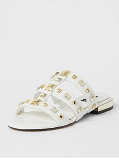 river-island-caged-studded-flat-sandal-white