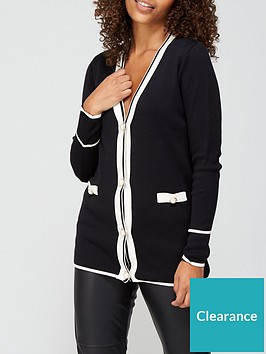 v-by-very-smart-button-up-longline-cardigan-black-white