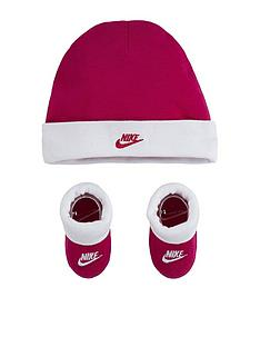 prod1090214884: Younger Unisex Nike Futura Hat & Bootie 2-Piece Set - Pink