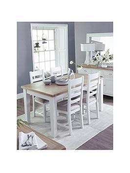 k-interiors-harrownbsp120-165nbspcm-extending-dining-table-nbsp4-chairs-whiteoak