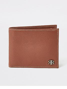 river-island-pebbled-rirnbspdecal-long-wallet-tannbsp