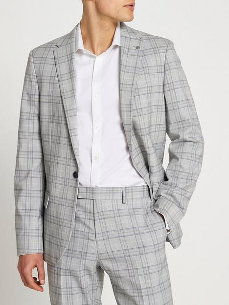 river-island-check-skinny-fit-suit-jacket-grey
