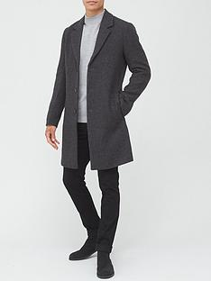 river-island-niro-overcoat-grey