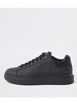 river-island-silk-7500-wedge-drench-trainer-black