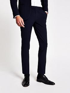 river-island-hades-ultra-skinny-suit-trousers-navy