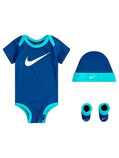 prod1090214885: Younger Boys Nike Swoosh 3-Piece Set - Blue
