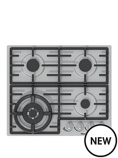 hisense-gm663xuk-60cm-width-gas-hob-with-wok-burner-stainless-steel