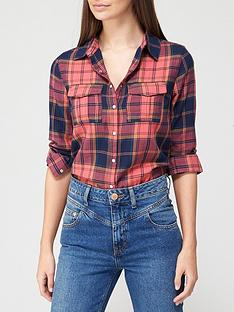 v-by-very-valuenbspchecked-shirt-red