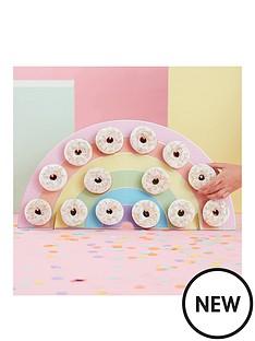 ginger-ray-rainbow-donut-wall-birthday-cake-alternative