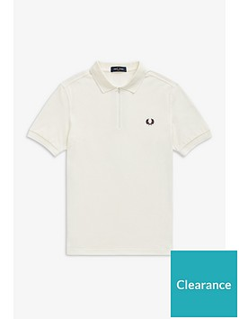 fred-perry-fred-perry-taped-zip-neck-polo-shirt-white