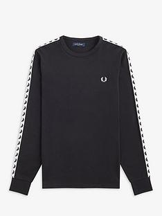 fred-perry-taped-long-sleeve-t-shirt