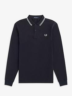 fred-perry-fred-perry-long-sleeve-twin-tipped-polo-shirt
