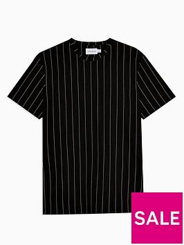 topman-vertical-stripe-t-shirt-black