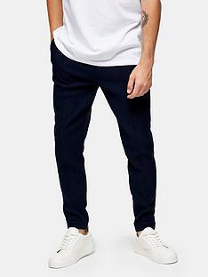 topman-skinny-fit-smart-joggers-navy