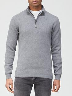 superdry-orange-label-henley-jumper-grey-marl