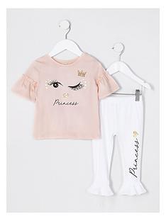 river-island-mini-girls-eyelash-print-t-shirt-outfit-pink