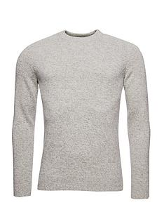 superdry-harlo-crew-neck-knit-jumper-grey