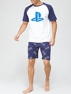 playstation-pyjama-set-bluewhitenbsp