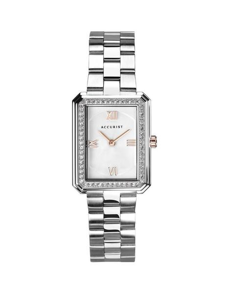 accurist-silver-and-rose-gold-detail-crystal-set-tank-dial-stainless-steel-bracelet-ladies-watch