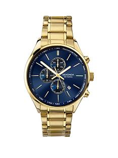 sekonda-blue-sunray-dual-time-dial-gold-stainless-steel-bracelet-mens-watch