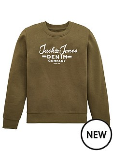 jack-jones-boys-hero-logo-crew-sweat-olive