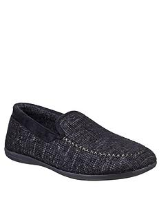 cotswold-stanley-slip-on-slippers-black