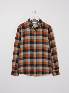 fatface-watton-check-shirt-orange