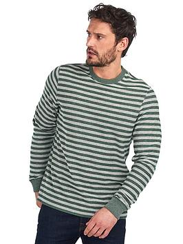 barbour-radar-stripe-sweater-dark-green