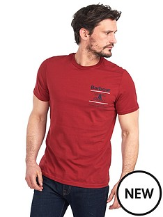 barbour-reed-t-shirt-red