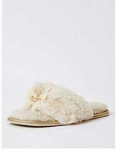 river-island-pearl-trim-flip-flop-slipper-cream