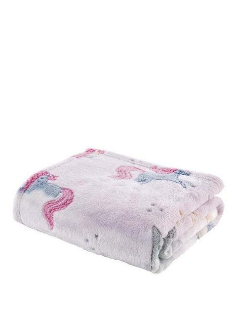 catherine-lansfield-unicorn-glow-in-the-dark-fleece-blanketnbsp