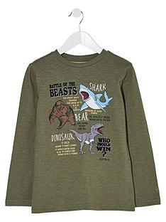 fatface-boys-long-sleeve-battle-of-the-beasts-print-t-shirt-khaki