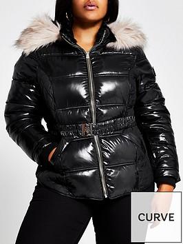 ri-plus-fitted-padded-jacket-black