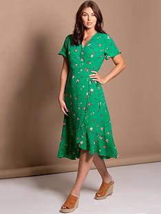 pour-moi-frill-detail-woven-midi-wrap-dress-green-floral
