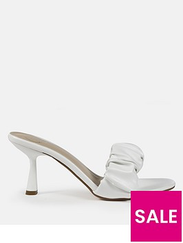 missguided-pu-ruched-mule-heeled-sandal-white
