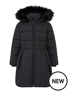 monsoon-girls-recycled-pleat-padded-coat-black