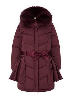 monsoon-girls-recycled-ruffle-padded-coat-burgundy