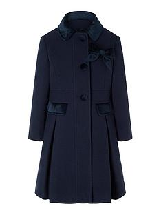 monsoon-girls-velvet-trim-coat-with-brooch-navy