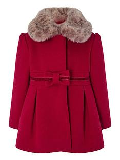 monsoon-baby-girls-bow-coat-red