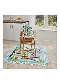 east-coast-tropical-friends-highchair-insert-amp-splash-mat