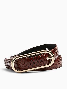 topshop-oval-skinny-buckle-belt-brown