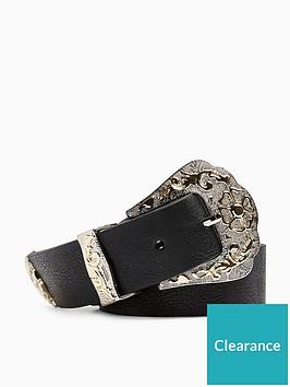 topshop-mixed-metal-western-belt-black