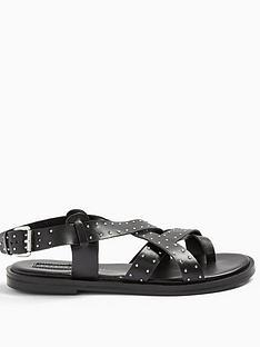 topshop-paige-studded-sandals-ndash-black