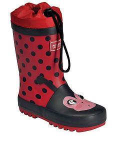regatta-mudplay-ladybird-juniornbspwelly-red-black