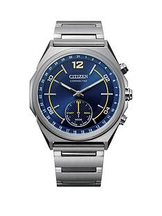 citizen-citizen-blue-and-yellow-detail-hybrid-connected-dial-stainless-steel-bracelet-watch